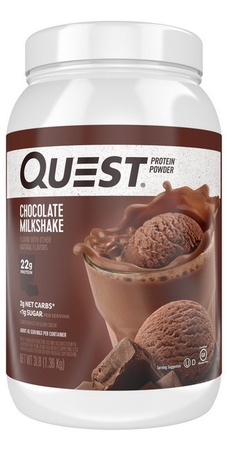 Quest Protein Powder Chocolate Milkshake - 3 Lb