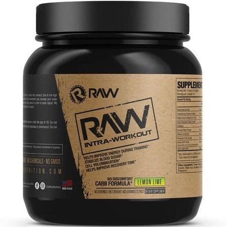 Raw Nutrition Intra-Workout Lemon Lime - 40 Servings
