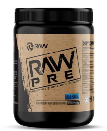 Raw Nutrition PRE  Pre-workout  Blue Punch - 40 Servings