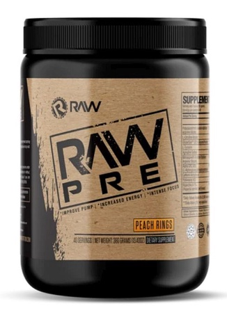 Raw Nutrition PRE  Pre-workout  Peach Rings - 40 Servings