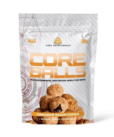 Core Nutritionals Core Balls Cinnamon Raisin Cookie - 10 Bags