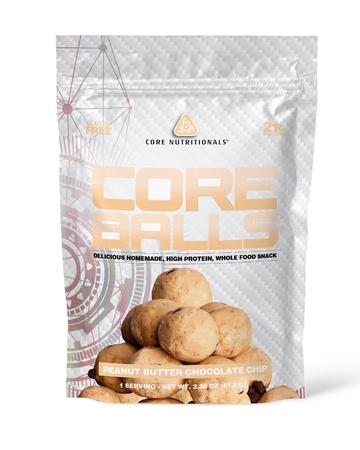 Core Nutritionals Core Balls Peanut Butter Chocolate Chip - 10 Bags