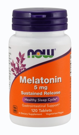 Now Foods Melatonin 5 Mg Sustained Release Tablets - 120 Tablets