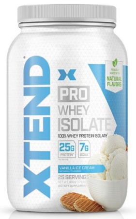 Scivation Xtend PRO Whey Isolate Vanilla Ice Cream - 25 Servings