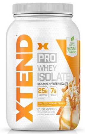 Scivation Xtend PRO Whey Isolate Salted Caramel - 25 Servings