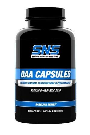 SNS Serious Nutrition Solutions DAA D-Aspartic Acid Capsules - 180 Cap