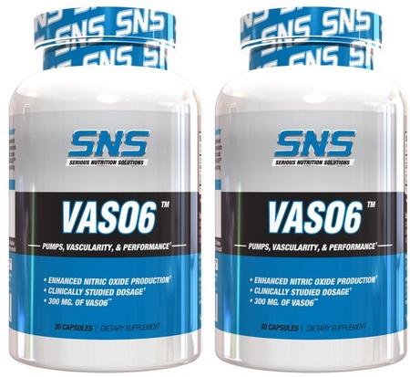 SNS Serious Nutrition Solutions VASO6   TWINPACK - 2 x 30 Cap Btls