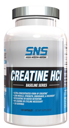 SNS Serious Nutrition Solutions Creatine HCL 750 Mg Capsules - 120 Cap