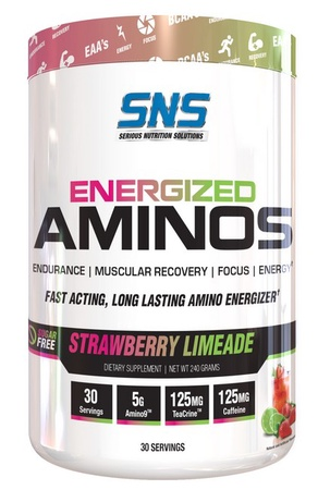SNS Serious Nutrition Solutions Energized Aminos Strawberry Limeade - 30 Servings ($18.99 w/coupon code DPS10)