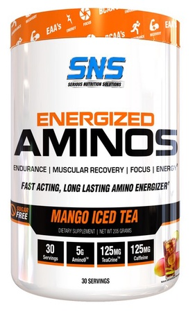 SNS Serious Nutrition Solutions Energized Aminos Mango Iced Tea - 30 Servings