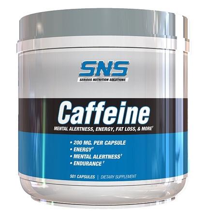 SNS Serious Nutrition Solutions Caffeine 200 Mg - 501 Caps