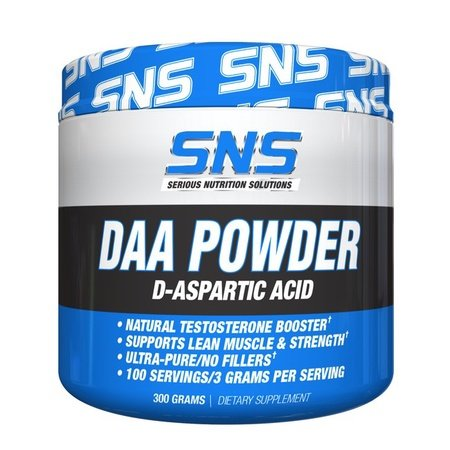SNS Serious Nutrition Solutions DAA D-Aspartic Acid Powder - 300 Grams (100 Servings)