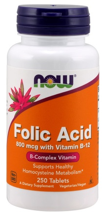 Now Foods Folic Acid 800 Mcg - 250 Tab