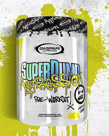 Gaspari  Superpump Aggression  Lights Out Lemon - 25 Servings