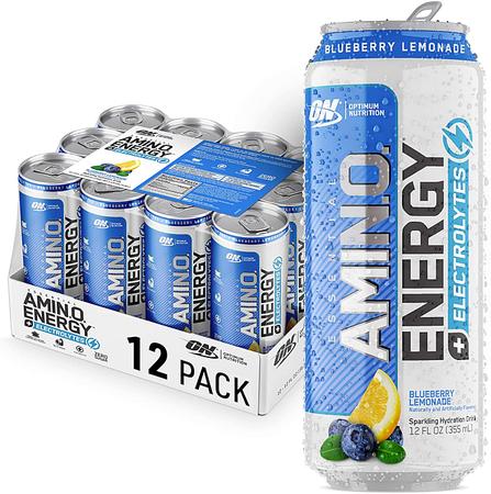 Optimum Nutrition Amino Energy Sparkling Rtd  Blueberry Lemonade - 12 Cans