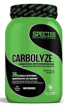 Species Nutrition Carbolyze Unflavored - 40 Servings