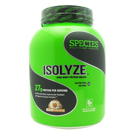 Species Nutrition Isolyze Vanilla Peanut Butter - 44 Servings