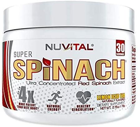 InnovaPharm - Nuvital Super Spinach  Lemon Iced Tea - 30 Servings