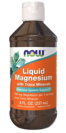 Now Foods Magnesium Liquid - 8 oz (approx. 178 servings)