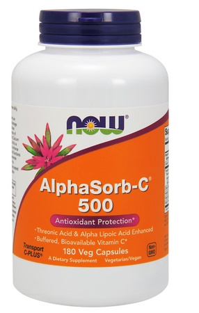 Now Foods AlphaSorb-C 500 Mg - 180 VCaps