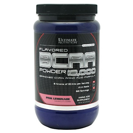 Ultimate Nutrition BCAA Powder 12,000 Pink Lemonade - 60 Servings
