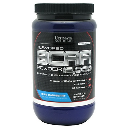 Ultimate Nutrition BCAA Powder 12,000 Blue Raspberry - 60 Servings