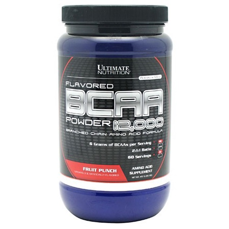 Ultimate Nutrition BCAA Powder 12,000 Fruit Punch - 60 Servings