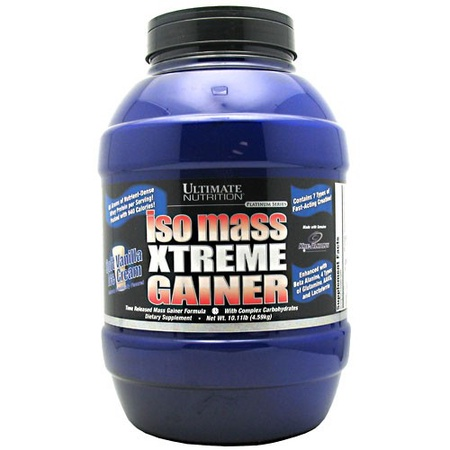 Ultimate Nutrition Iso Mass Xtreme Gainer Vanilla - 10.11 Lb