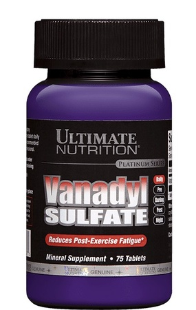 Ultimate Nutrition Vanadyl Sulfate 10 Mg - 75 Tab