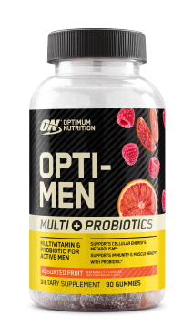 Optimum Nutrition Opti-Men Multi + Probiotics Gummies  Assorted Fruit - 90 Gummies
