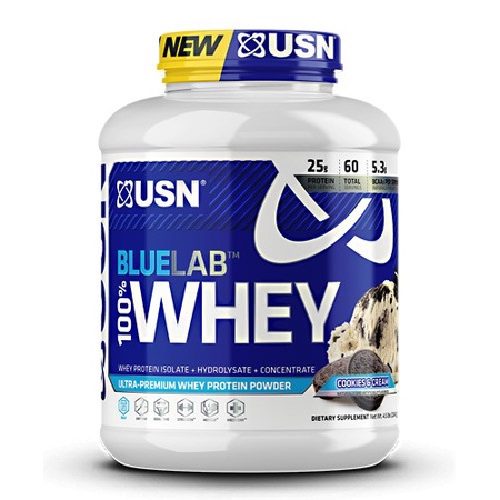 USN BlueLab 100% Whey Protein Cookies & Cream - 4.5 Lb