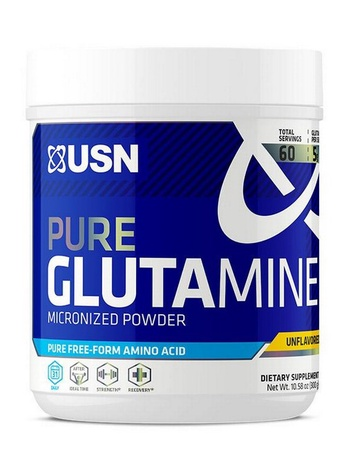 USN Pure Glutamine Powder Micronized - 300 Grams