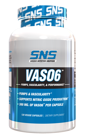 SNS Serious Nutrition Solutions VASO6 - 120 Cap  *NEW SIZE