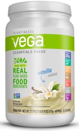 Vega Essentials Plant Based Food Shake Vanilla - 18 Servings