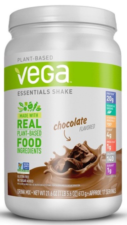 Vega Essentials Plant Based Food Shake Chocolate - 17 Servings