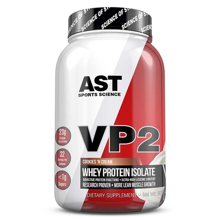 Ast VP2 Whey Protein Isolate  Cookies & Cream - 2 Lb  *SALE - Buy 2 or more at $19.99 ea