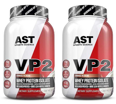 -Ast VP2 Whey Protein Isolate  Cookies & Cream - 4 Lb (2 x 2 Lb btls)  TWINPACK ($39.99 w/DPS10 code)