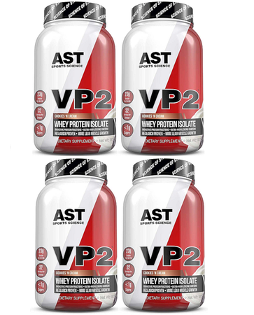 -Ast VP2 Whey Protein Isolate  Cookies & Cream - 8 Lbs (4 x 2 Lb Btls)  (4 PACK - $69.99 w/DPS10 code)