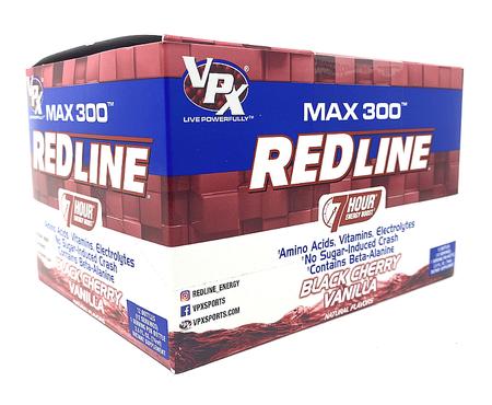 Vpx Redline Max 300 7 Hour Energy 2.5oz Black Cherry Vanilla - 12 Btls