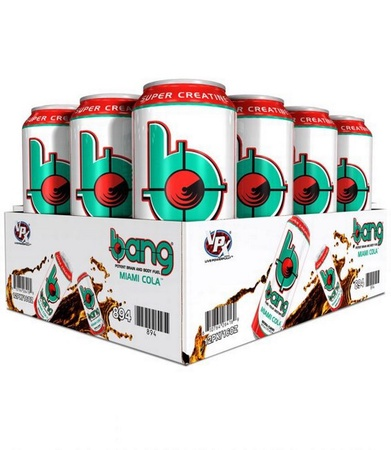 Vpx Bang Energy Drinks Miami Cola - 12 x 16 Oz Cans