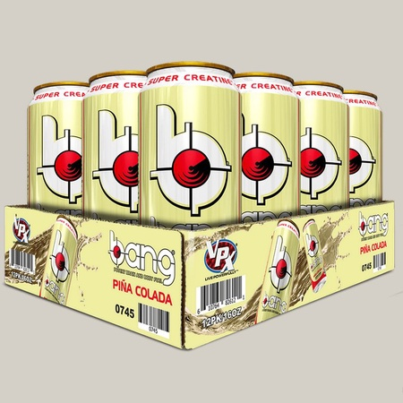 Vpx Bang Energy Drinks Pina Colada - 12 x 16 Oz Cans