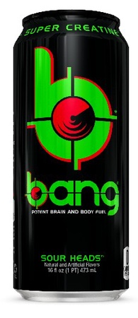 Vpx Bang Energy Drinks Sour Heads - 12 x 16 Oz Cans