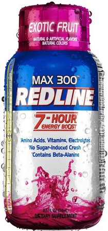 Vpx Redline Max 300 7 Hour Energy 2.5oz Exotic Fruit - 12 Btls