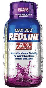 Vpx Redline Max 300 7 Hour Energy 2.5oz Grape - 12 Btls