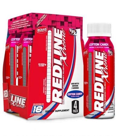 Vpx Redline Xtreme Rtd 8 oz Cotton Candy - 24 Btls