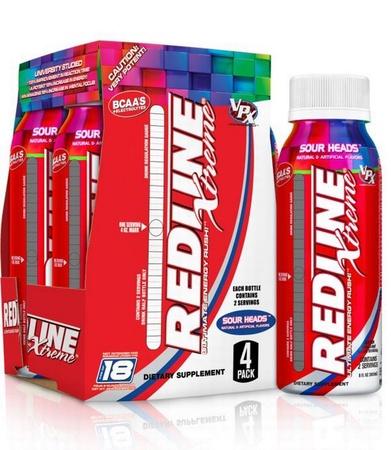 Vpx Redline Xtreme Rtd 8 oz Sour Heads - 24 Btls