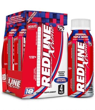 Vpx Redline Xtreme Rtd 8 oz Triple Berry - 24 Btls