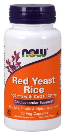Now Foods Red Yeast Rice 600 mg with CoQ10 30 mg - 60 VCap