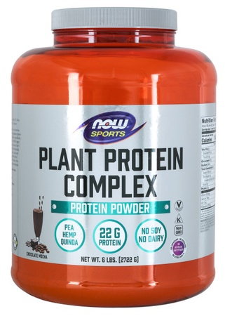 Now Foods Plant Protein Complex Chocolate Mocha - 6 Lb