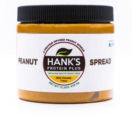 Hank's Protein Plus Peanut Spread  White Chocolate Pretzel - 15.5 oz